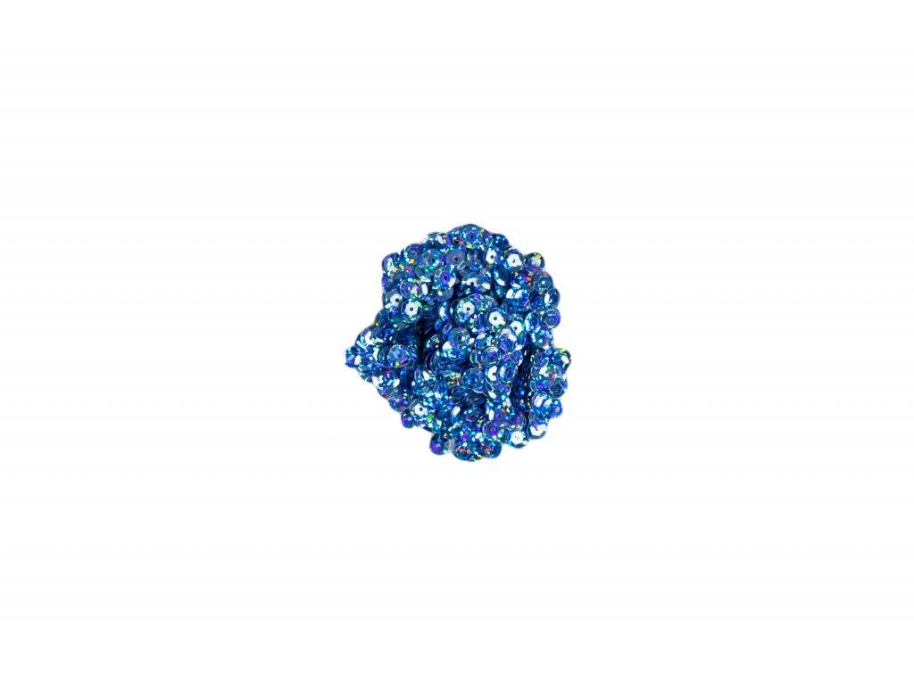 Flitry lomené s hologramem světle modré