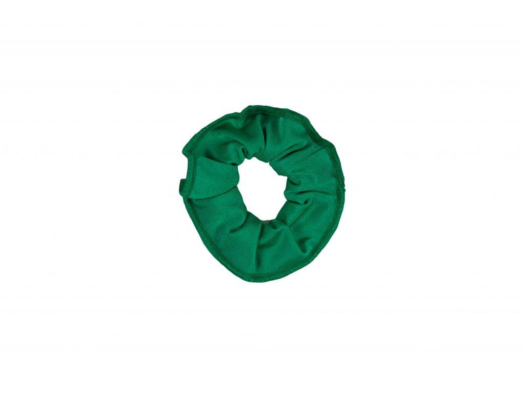 Gumička do vlasů VFstyle tmavě zelená