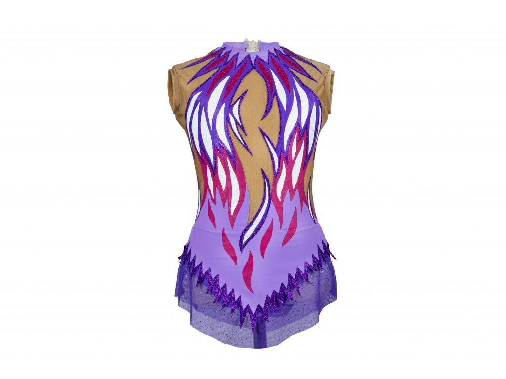 Gymnastický dres Daria fialový
