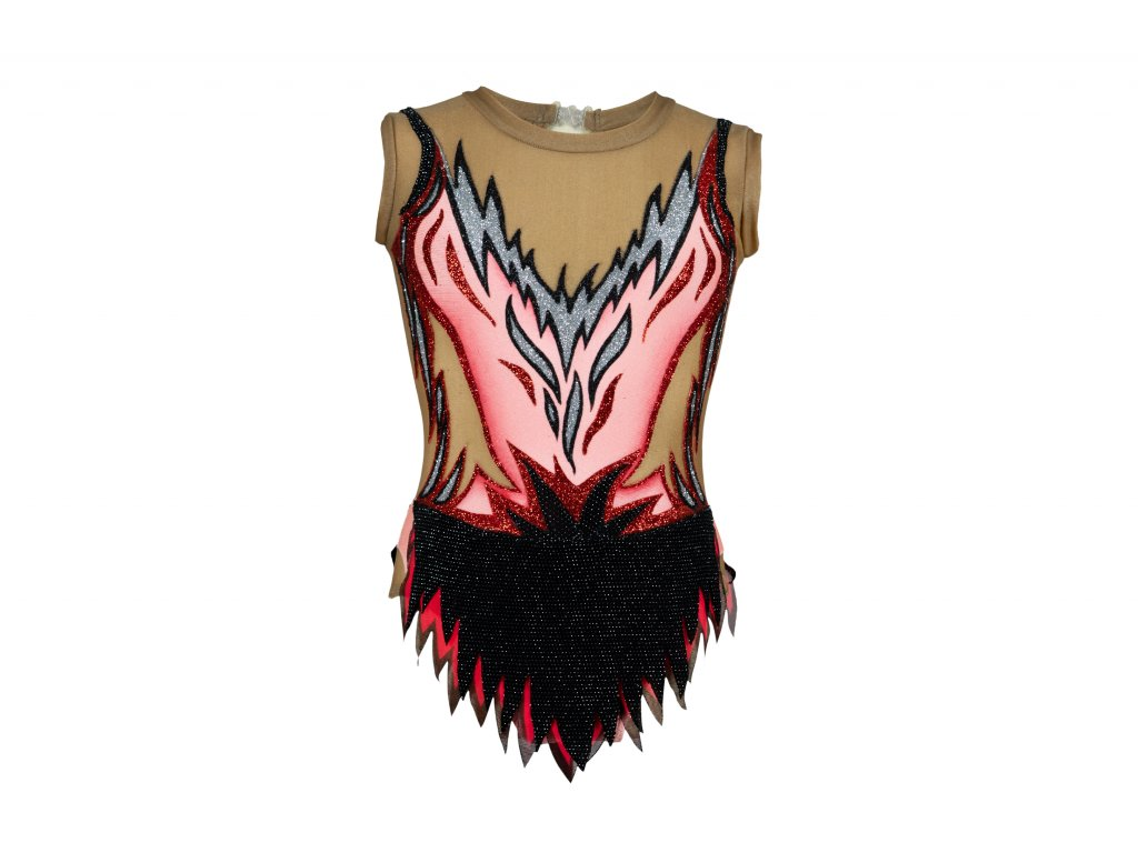 Gymnastický dres Ela růžový