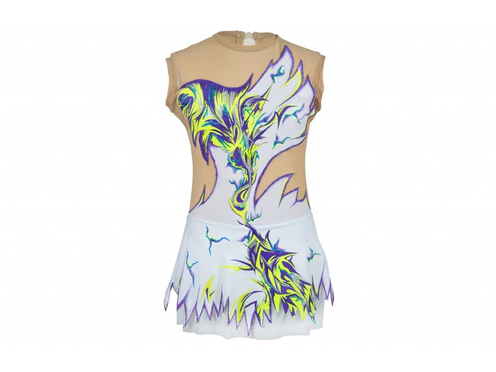 Gymnastický dres Eleanora fialový