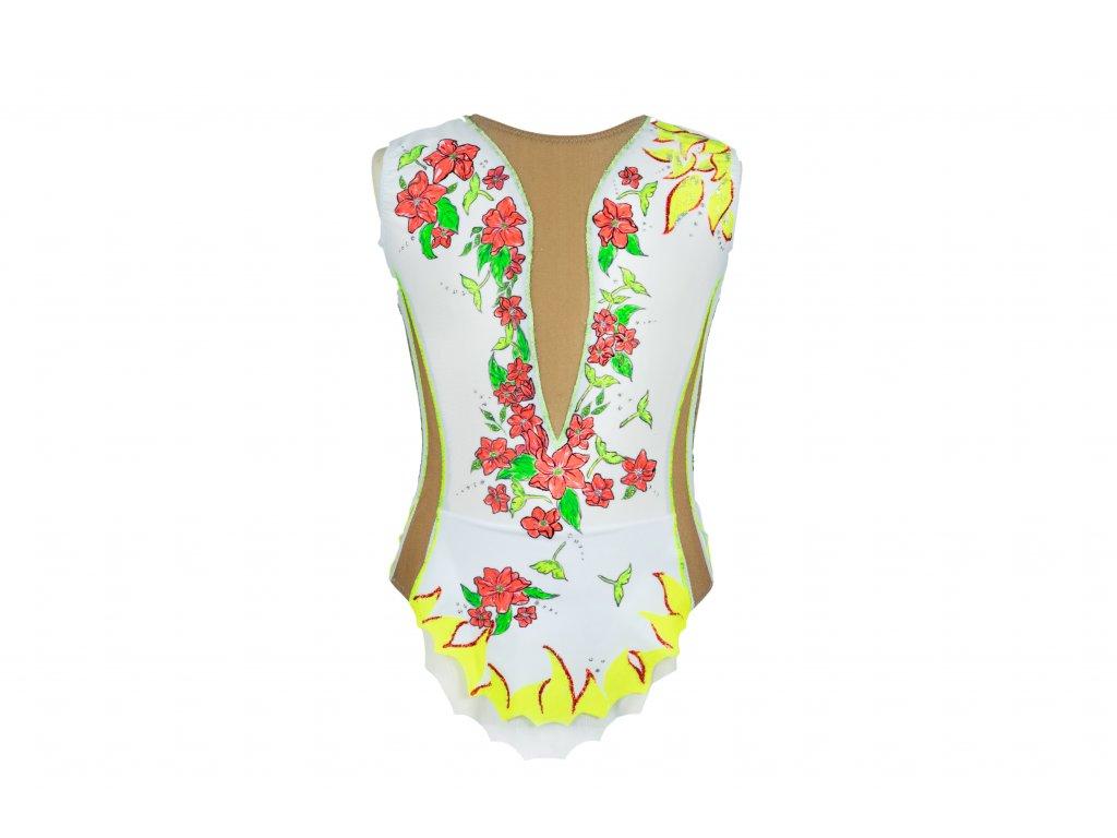 Gymnastický dres Frida bílý