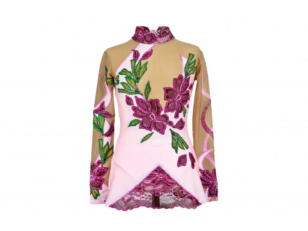 Gymnastický dres Hyana růžový