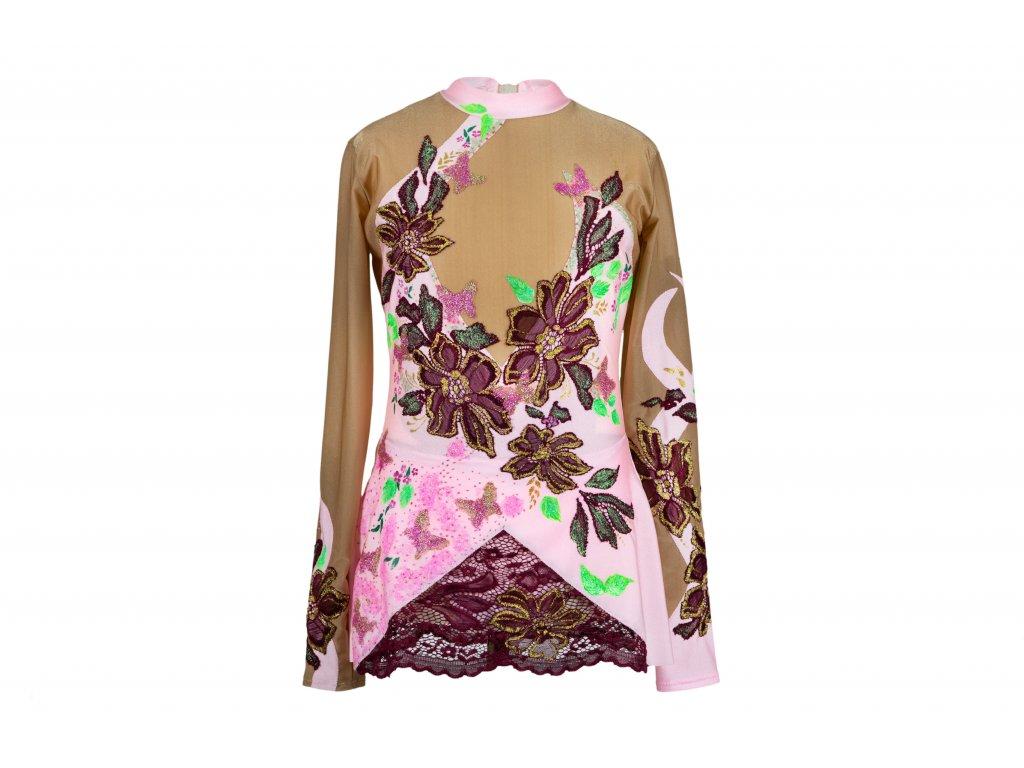 Gymnastický dres Ilona růžový