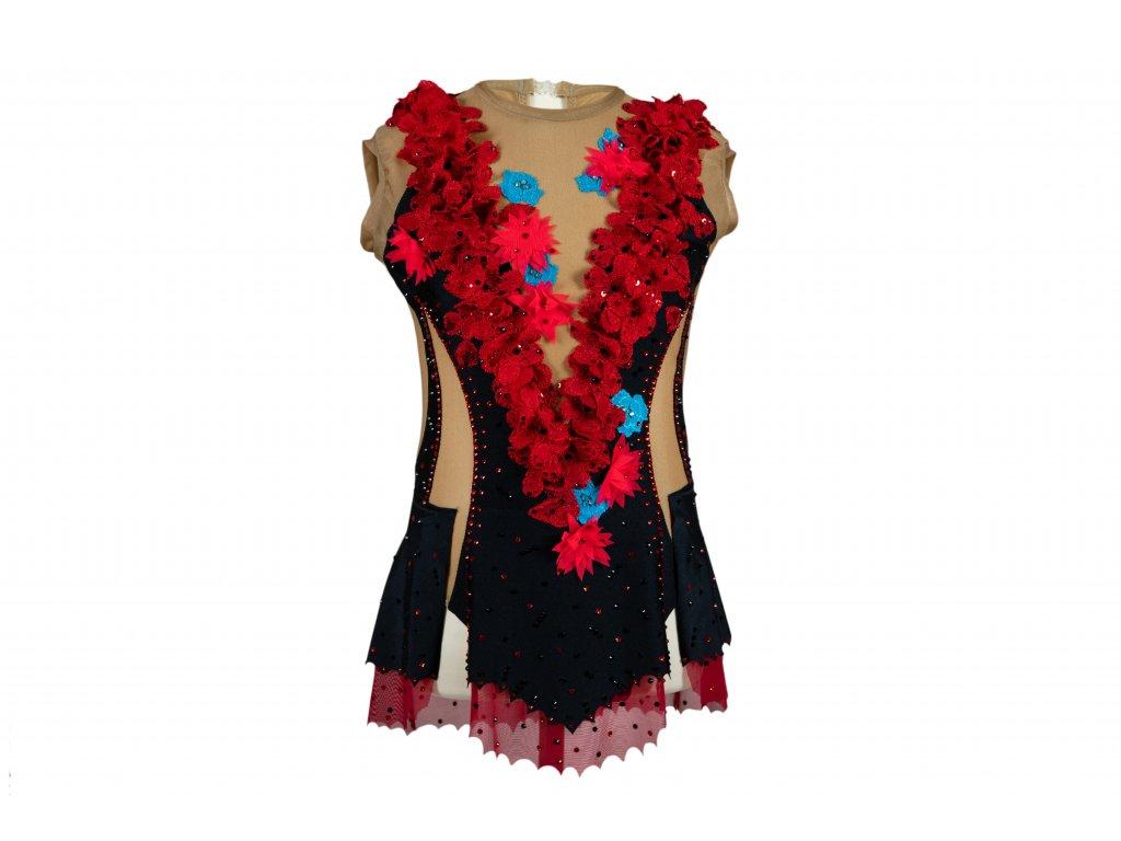Gymnastický dres Beata červený