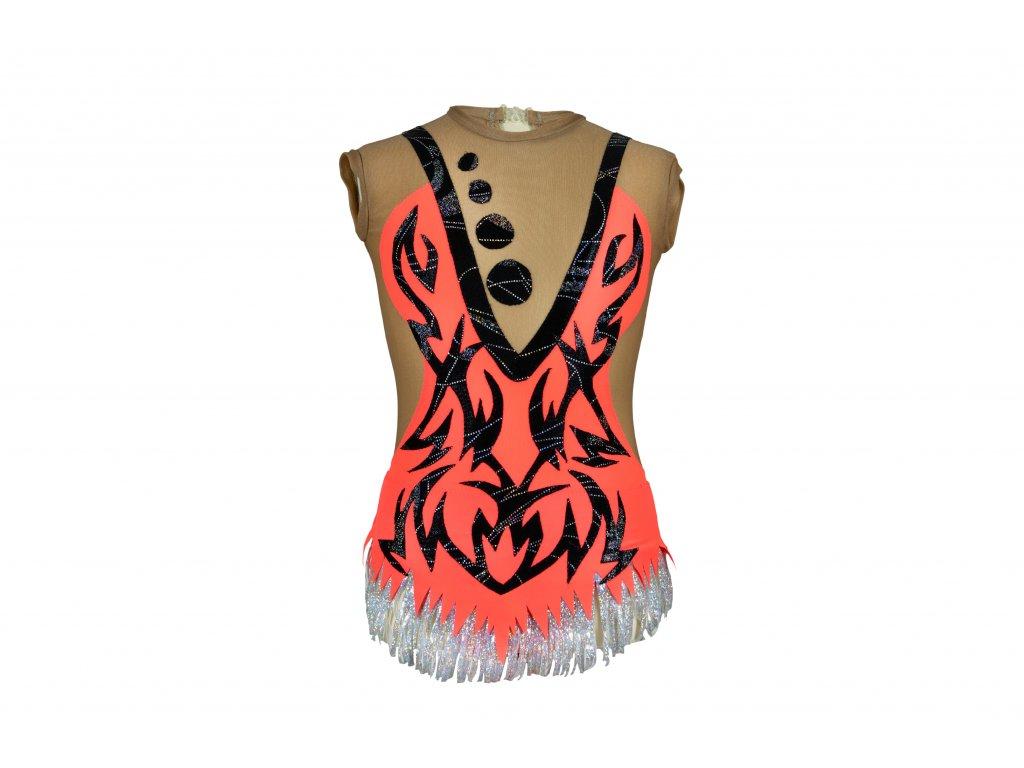 Gymnastický dres Klaudie oranžový