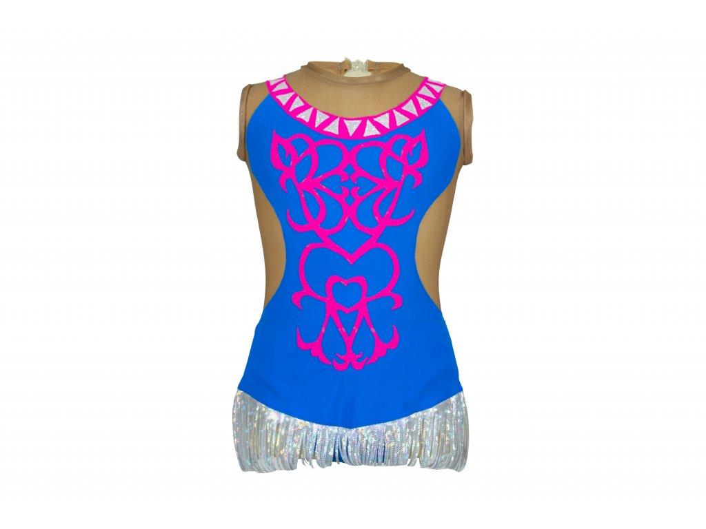 Gymnastický dres Naomi modrý