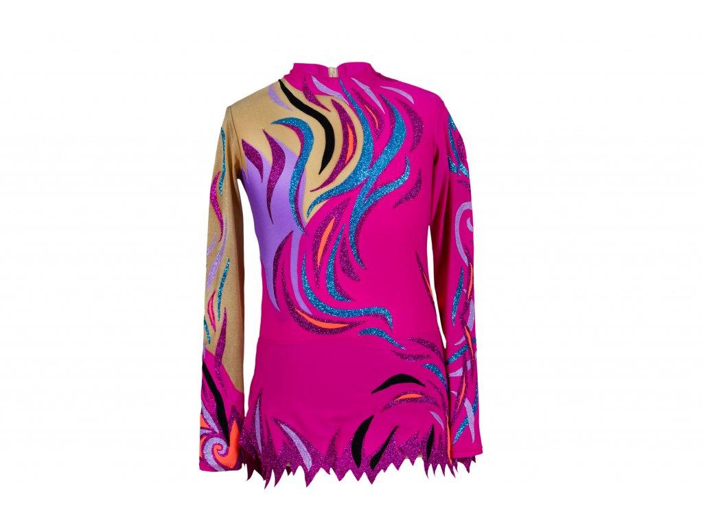 Gymnastický dres Amélia růžový