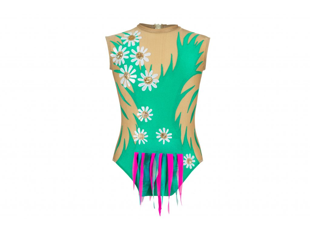 Gymnastický dres Melanie zelený