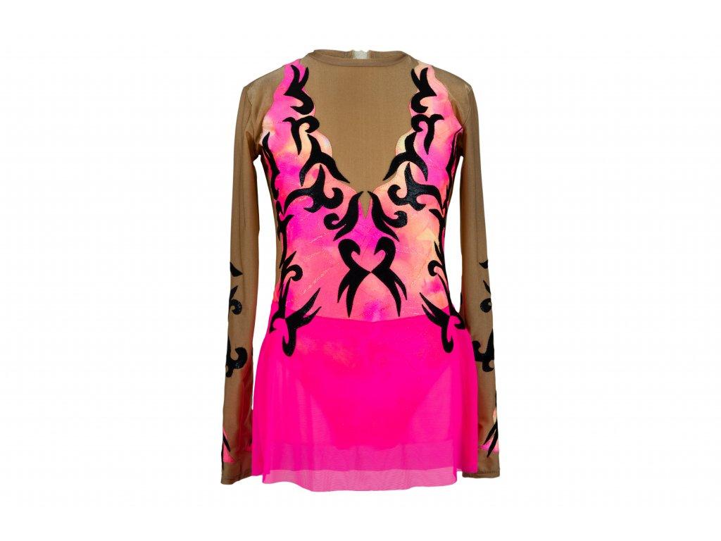 Gymnastický dres Nelly růžový