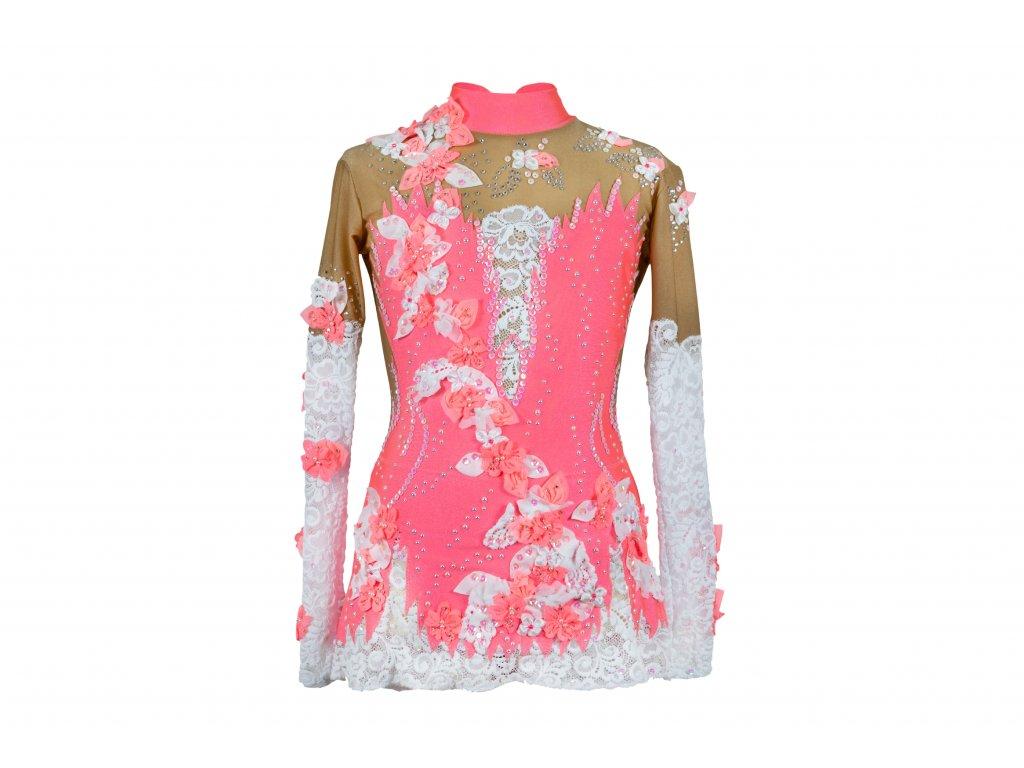 Gymnastický dres Samanta růžový