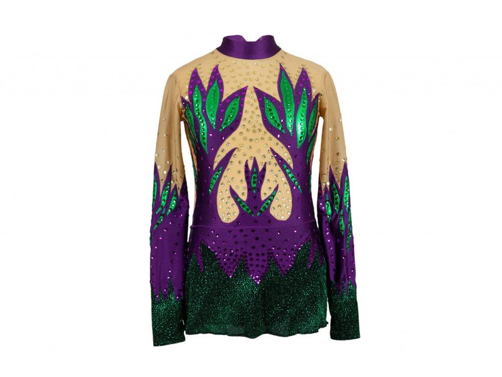 Gymnastický dres Sara fialový