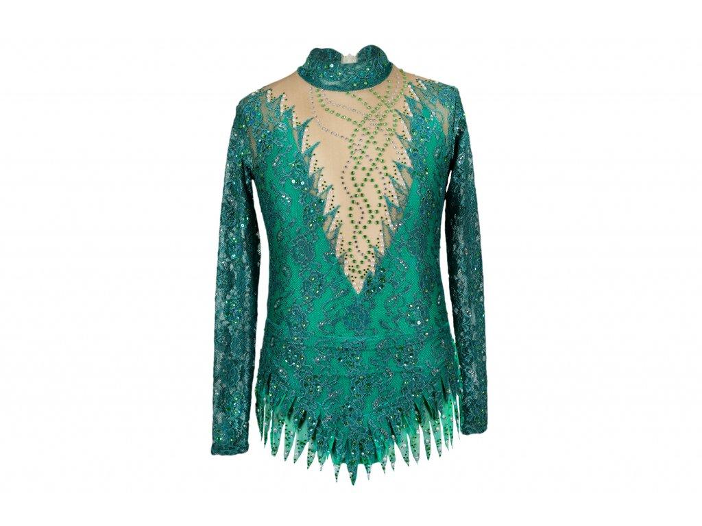 Gymnastický dres Evelyn zelený