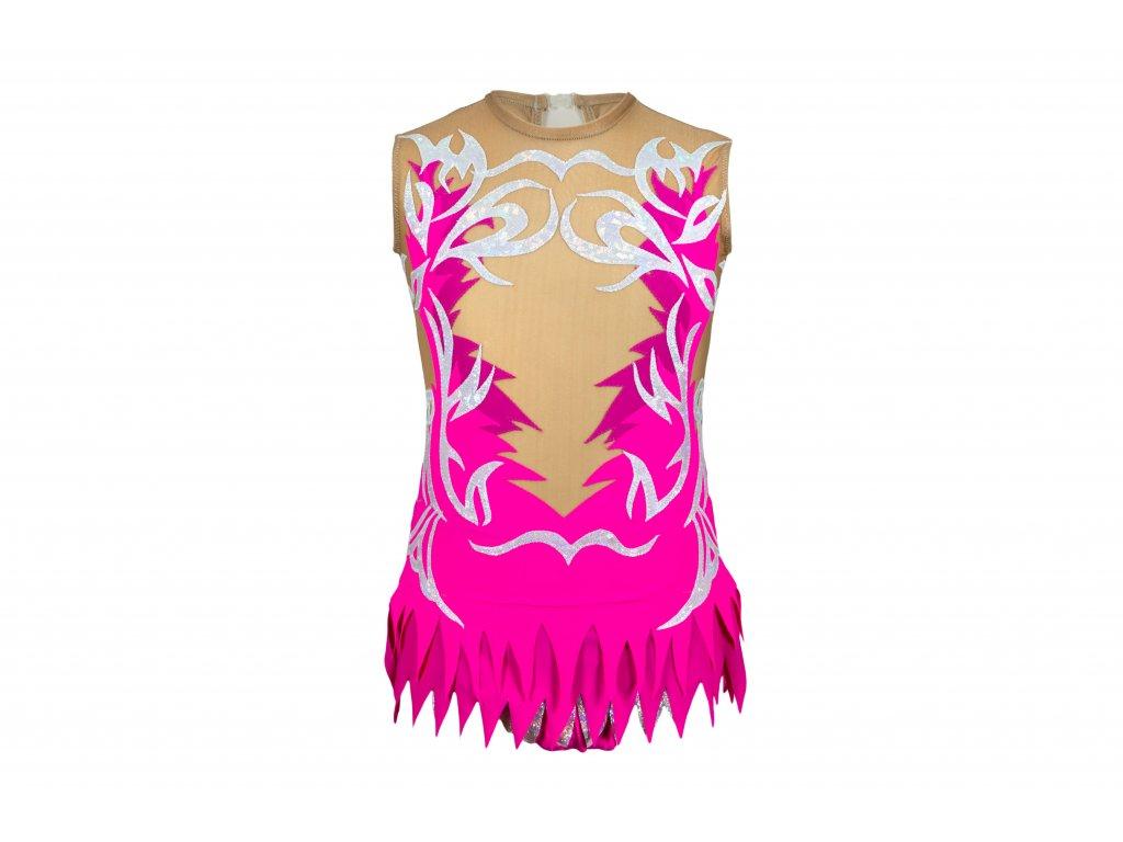 Gymnastický dres Luisa růžový