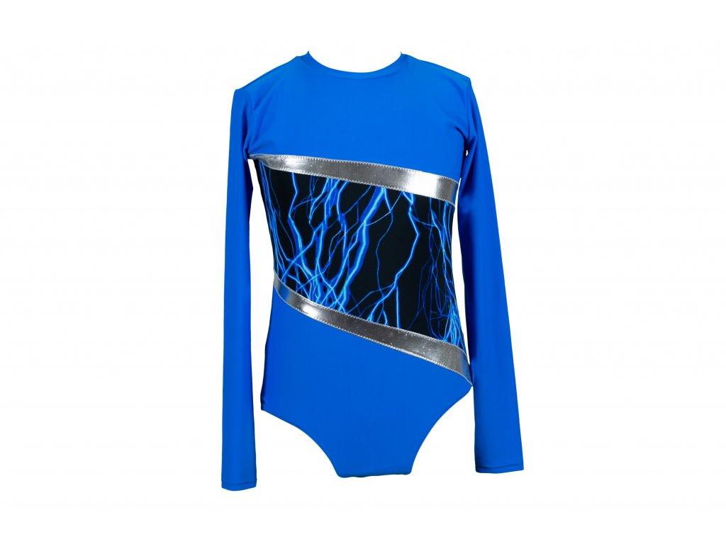 Gymnastický dres modrý