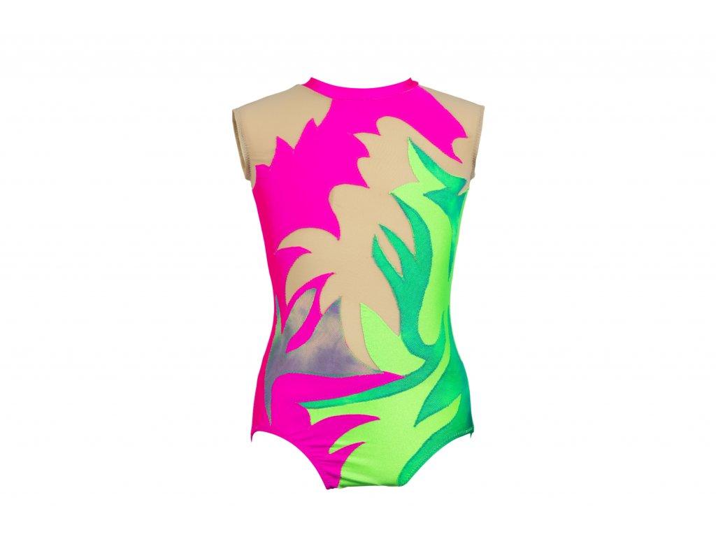 Gymnastický dres růžový