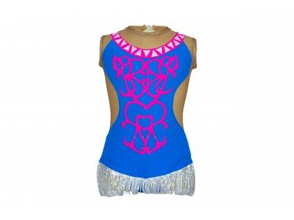 Trikot na gymnastiku Naomi modrý