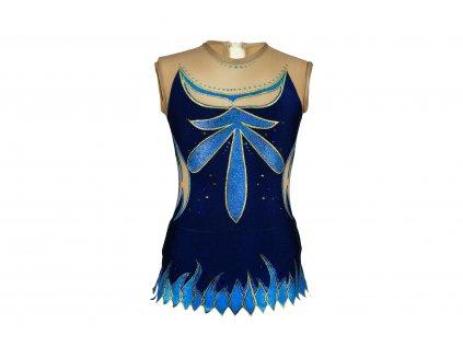 Trikot na gymnastiku Rebeka modrý