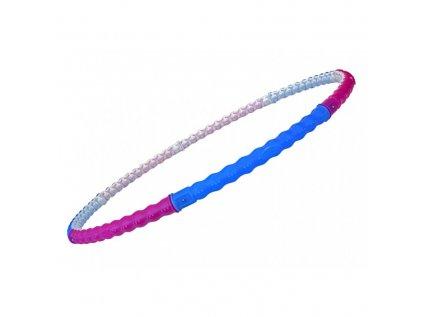 Masážní obruč Hula hoop, růžovo-modrá