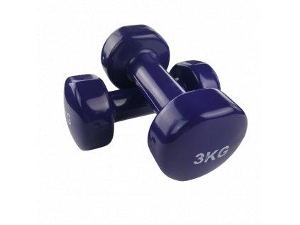 Jednoruční činky 2 x 3 kg, fialové