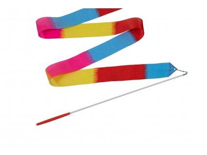 Dětská gymnastická stuha s tyčkou barevná 2 m
