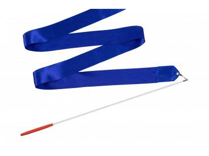 Dětská gymnastická stuha s tyčkou modrá 2 m