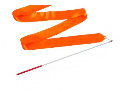 Gymnastická stuha s tyčkou tmavě oranžová 4 m