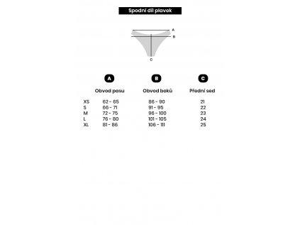 Spodní díl plavek Alison růžové