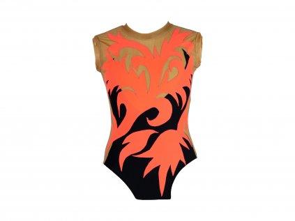 Dres na gymnastiku Blossom oranžový