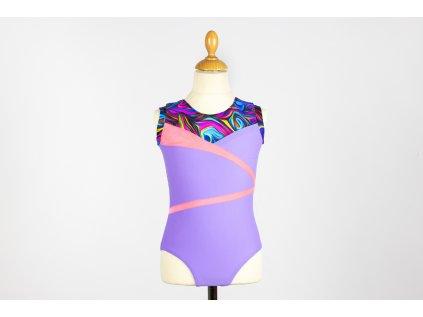 Dres na gymnastiku Alyssa fialový