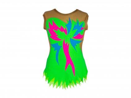 Dres na moderní gymnastiku Begonia fluo zelený