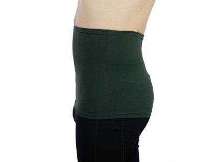 Pánský ledvinový pás Comfort, tmavě zelený