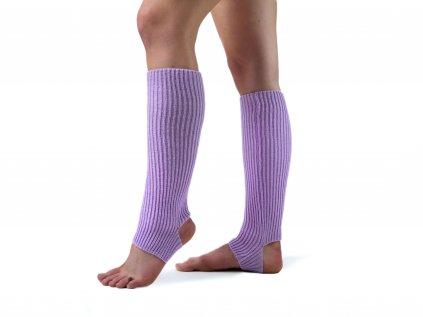 Návleky na nohy s otvorem na patu VFstyle 43 cm světle fialové