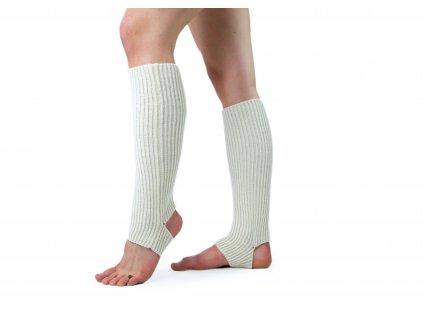 Návleky na nohy s otvorem na patu VFstyle 43 cm krémové
