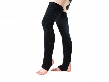 Návleky na nohy s otvorem na patu VFstyle 72 cm černé