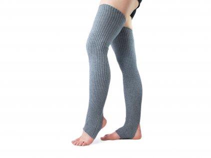 Návleky na nohy s otvorem na patu VFstyle 72 cm šedé