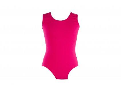 Bavlněný gymnastický dres bez rukávu růžový