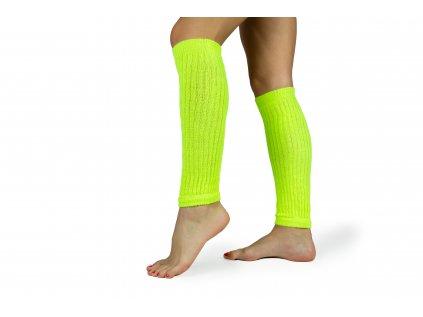Návleky na nohy 35 cm fluo žluté