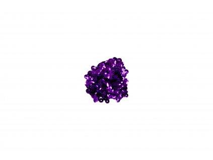 Flitry lomené bez hologramu  tmavě fialové