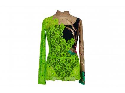 Gymnastický dres Brita zelený