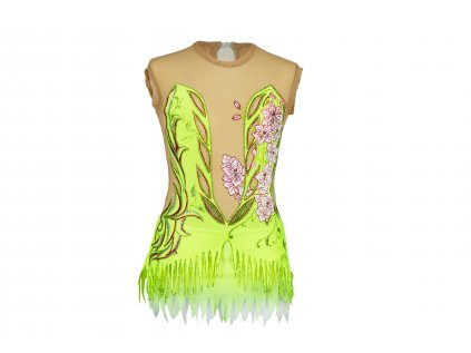 Gymnastický dres Dora fluo zelený