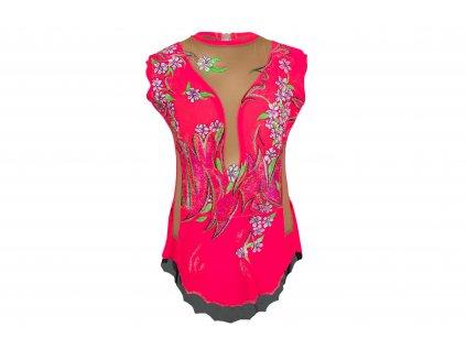 Gymnastický dres Gina růžový