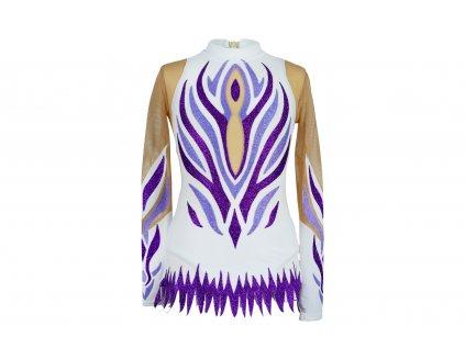 Gymnastický dres Grácie fialový