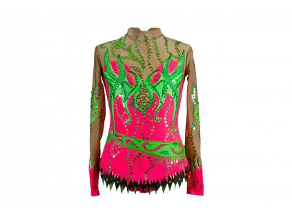 Gymnastický dres Haidi růžový