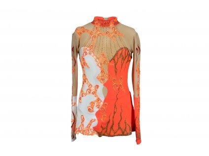 Gymnastický dres Helga oranžový