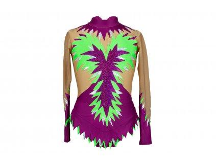 Gymnastický dres Nella vínový