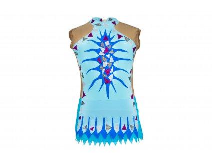 Gymnastický dres Thea modrý
