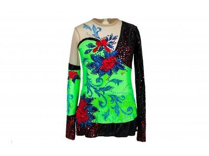 Gymnastický dres Tina zelený