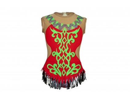 Gymnastický dres Vanda červený