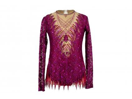 Gymnastický dres Timea růžový